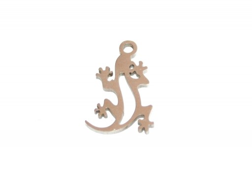 Stainless Steel Charms Lizard - 16x10mm - 2pcs
