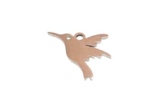 Stainless Steel Charms Bird - 13x16mm - 2pcs