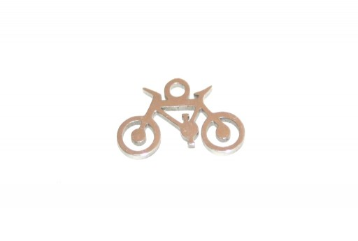 Stainless Steel Charms Bicycle - 9x14mm - 2pcs