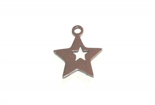 Stainless Steel Charms Star - 13,7x12mm - 2pcs