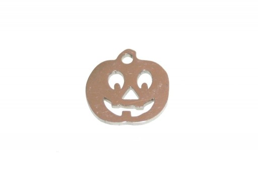 Stainless Steel Charms Pumpkin - 12mm - 2pcs