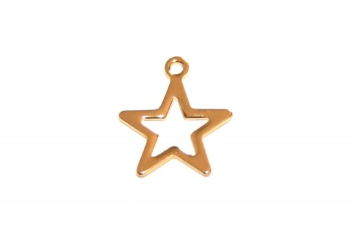 Stainless Steel Charms Star - Golden 14,5x12,5mm - 4pcs