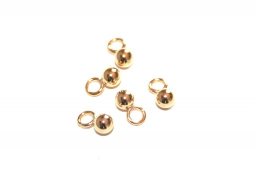 Stainless Steel Charms Ball - Golden 3mm - 6pcs