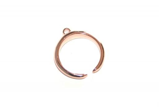 Anello Regolabile con Asola Metallo Zama - Oro Rosa