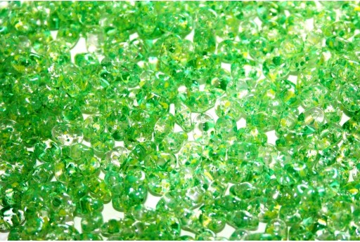 Superduo Beads Confetti Splash Yellow Green 5x2,5mm - 10gr