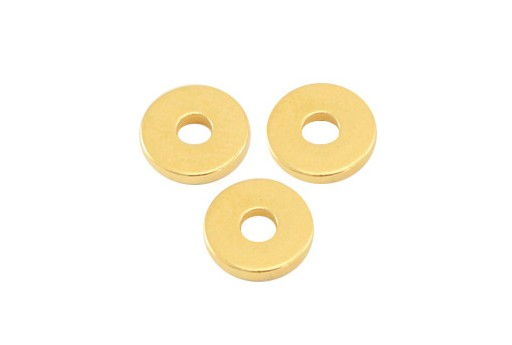 Brass Spacer Beads Disc Heishi - Gold 6mm - 10pcs