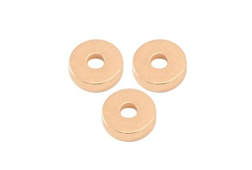 Distanziatori in Ottone Heishi - Oro Rosa 6mm - 10pz