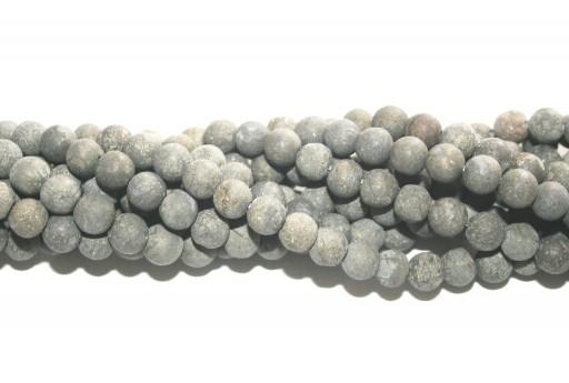 Filo Pietre Dure Pyrite Frosted Tondo 8mm - 48pz