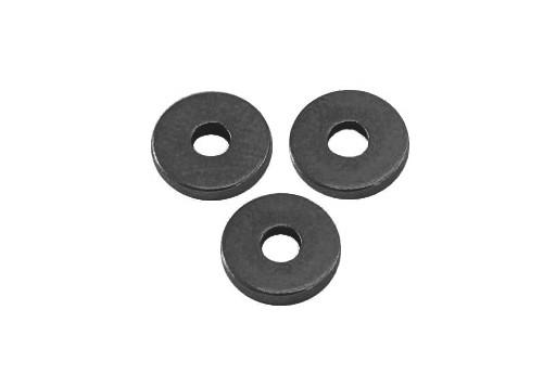 Brass Spacer Beads Disc Heishi - Gunmetal 6mm - 10pcs