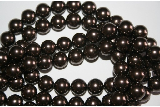 Swarovski Pearls Brown 5810 10mm - 4pcs