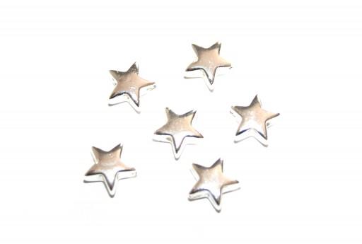 Perline Hematite Stella - Argento 8mm - 20pz