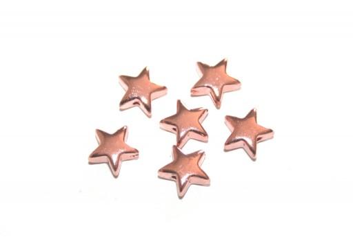 Perline Hematite Stella - Rose Gold 8mm - 20pz