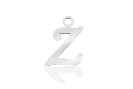 Stainless Alphabet Pendant Letter Z 16mm - 1pc