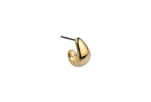 Earring Hook Bold With Titanium Pin - Gold 11,4x14,6mm - 2pcs