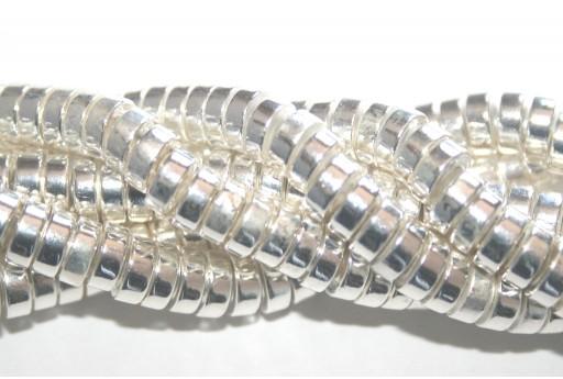 Perline Hematite Heishi - Argento 6x2mm - 30pz