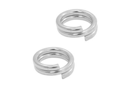 Stainless Steel Split Rings - Platinum 4mm - 20pcs