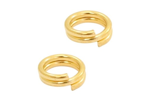 Stainless Steel Split Rings - Gold 4mm - 20pcs