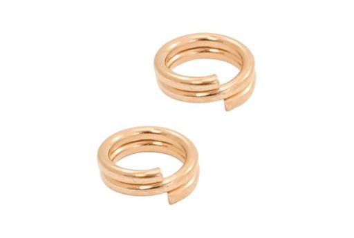 Stainless Steel Split Rings - Rose Gold 4mm - 20pcs