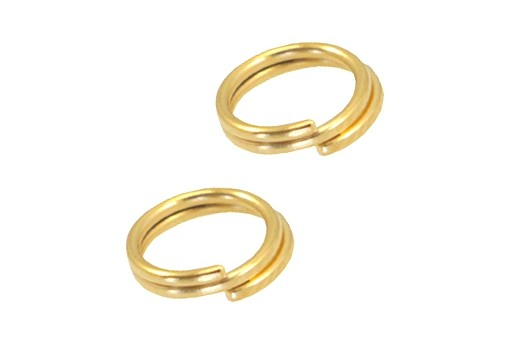 Stainless Steel Split Rings - Gold 8mm - 10pcs
