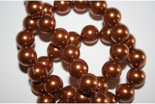 Swarovski Pearls Copper 5810 10mm - 4pcs