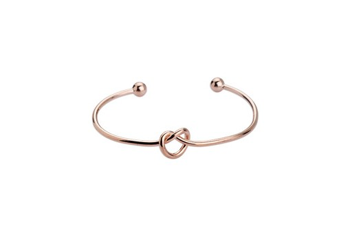 Brass Knot Bracelet - Rose Gold 59mm
