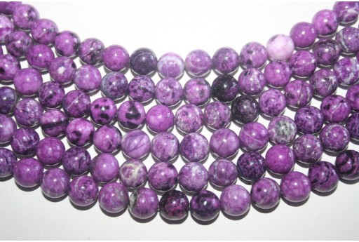 Jasper Sugilite Beads Sphere 10mm - 5pz