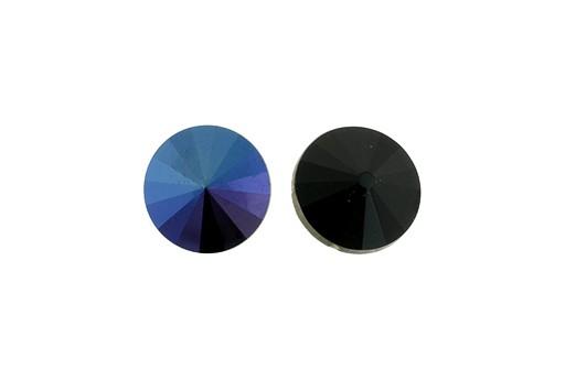 Matubo Rivoli Round Stone Blue Iris Jet 12mm - 2pcs