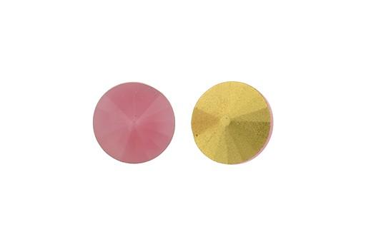 Matubo Rivoli Round Stone Pink Opal 12mm - 2pcs