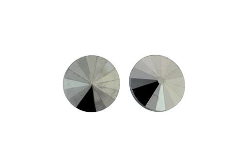 Matubo Rivoli Round Stone Hematite 12mm - 2pcs