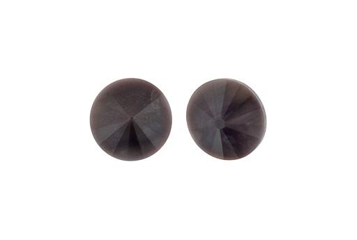 Matubo Rivoli Round Stone Dark Violet 12mm - 2pcs