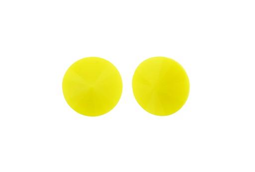 Cabochon Rivoli Matubo Light Opaque Yellow 12mm - 2pz