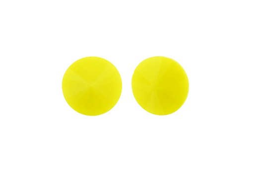 Matubo Rivoli Round Stone Light Opaque Yellow 12mm - 2pcs