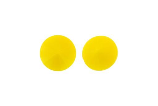 Matubo Rivoli Round Stone Opaque Yellow 12mm - 2pcs