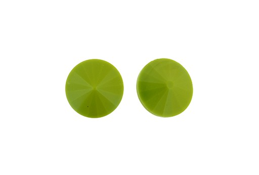 Matubo Rivoli Round Stone Opaque Olive 14mm - 1pc