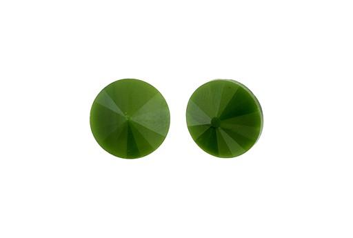 Matubo Rivoli Round Stone Green Pearl 14mm - 1pc