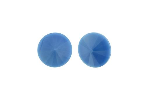 Matubo Rivoli Round Stone Opaque Sky Blue 14mm