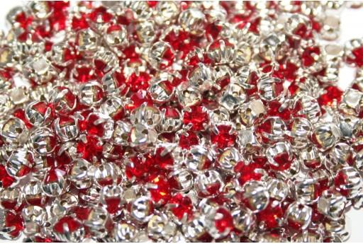 Perline Strass Montee Red SS16 - 20pz