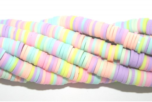 Perline Heishi Multicolor - Fantasia B 6mm - 200pz