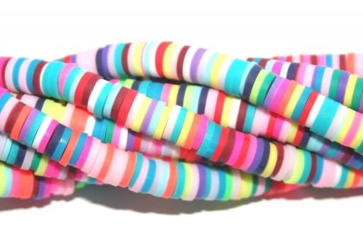 Perline Heishi Multicolor - Fantasia D 6mm - 200pz