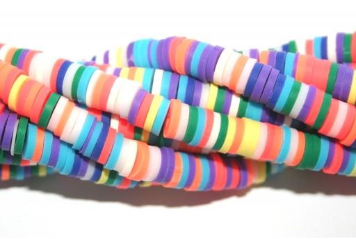 Perline Heishi Multicolor - Fantasia G 6mm - 200pz