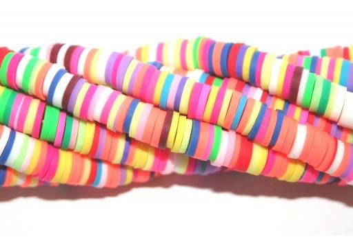 Perline Heishi Multicolor - Fantasia P 6mm - 200pz