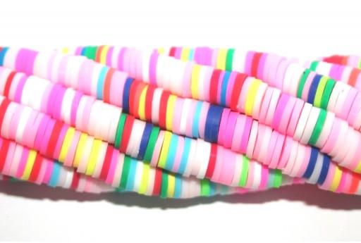 Perline Heishi Multicolor - Fantasia R 6mm - 200pz