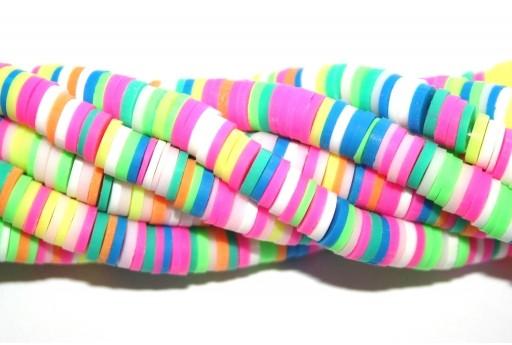 Perline Heishi Multicolor - Fantasia T 6mm - 200pz