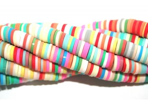 Perline Heishi Multicolor - Fantasia U 6mm - 200pz