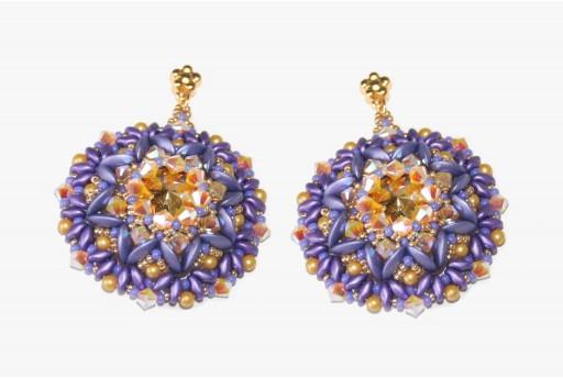 DIY Kit Violet Anemone Earrings by Nicoletta Barbera