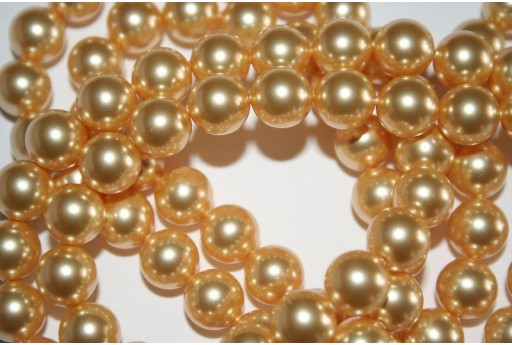Swarovski Pearls Gold 5810 10mm - 4pcs