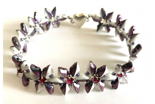 DIY Kit Anis Bracelet - White-Purple