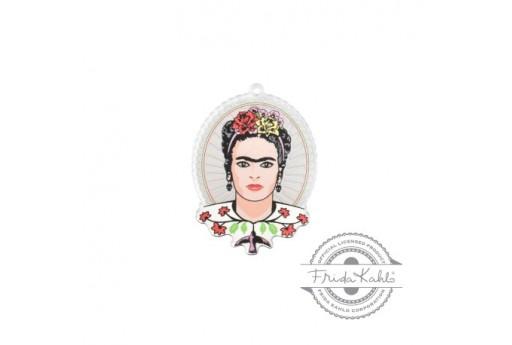 Pendente in Plexiglass Frida Kahlo 37x47mm