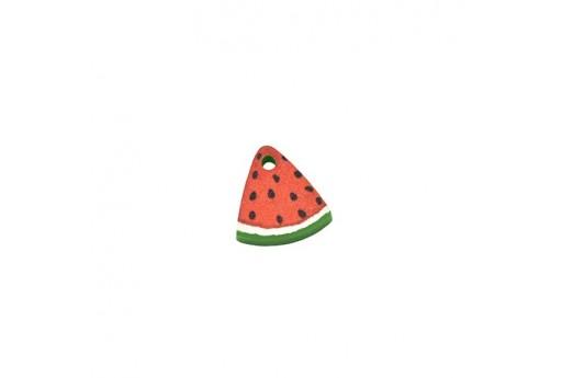 Watermelon Plexiglass Charm - 11x12mm - 2pcs