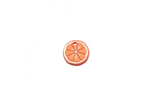 Orange Plexiglass Charm - 13mm - 2pcs